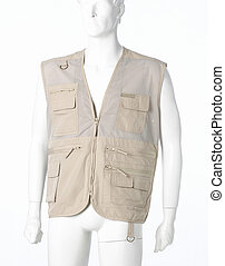 Gilet - Brown Gilet isolated on a white background