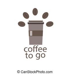 brown glass of takeaway coffee