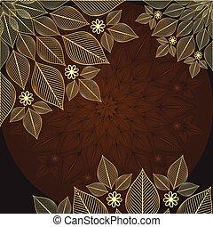 Brown-gold vintage frame