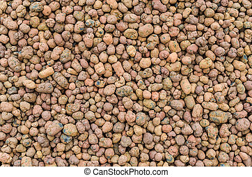 Brown gravel macro texture background