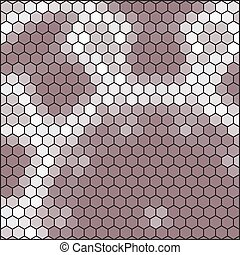 brown gray honeycomb - abstract hexagon grid