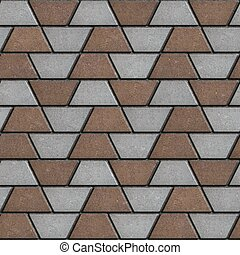 Brown-Gray Paving Slabs in the Form Trapezoids.