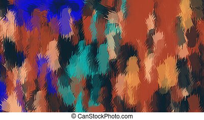 brown green blue and black painting texture abstract background