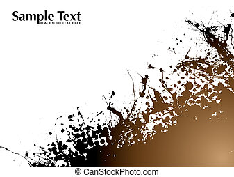 Brown and black grunge abstract background with room to add text