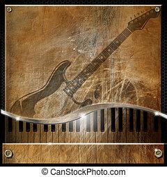 Brown Grunge Music Background