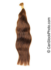 Brown hair extensions - Extensions for brown hair isolated...
