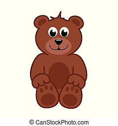brown happy teddy bear