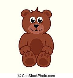 brown happy teddy bear