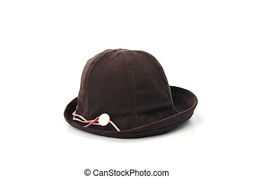 Brown hat isolated on white background