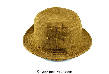 Brown hat on a white background.