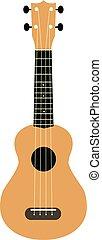 brown hawaiian guitar isolated on a white background. ukulele icon. ukulele symbol. hawaii national musical instrument.