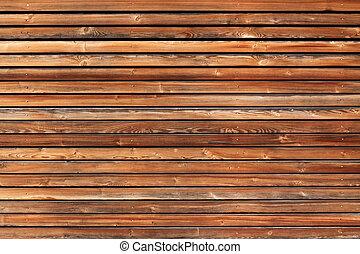 Brown horizontal board wall