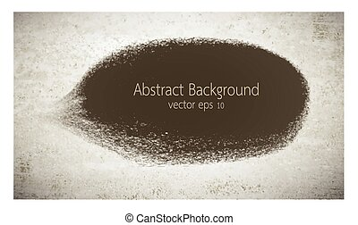 Brown ink vector brush strokes on gray background