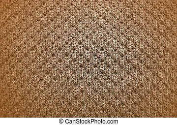 Brown knitted background