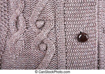Brown knitted fabric