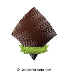 brown label decoration ribbon