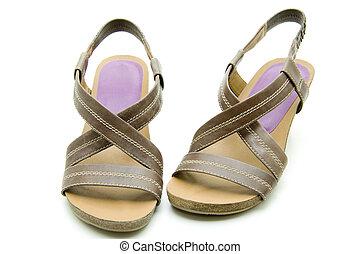 Brown ladies shoes