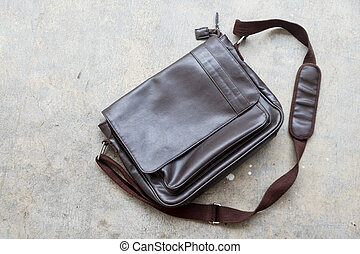brown leather bag for men