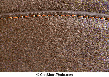 Brown leather - Natural brown leather background closeup