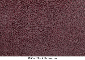 Brown leather texture background. Closeup photo.