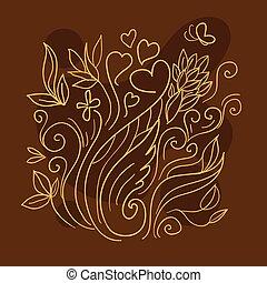 Brown line art