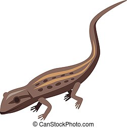 Brown lizard icon, isometric style