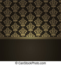 brown luxury background - Vector square brown luxury...
