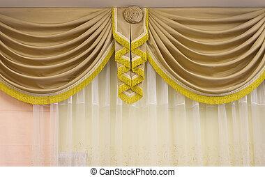 brown luxury curtain