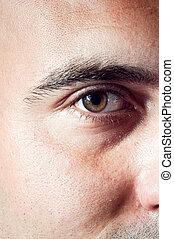 Brown male eye