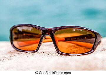 Brown male sunglass