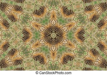 Brown mandala background