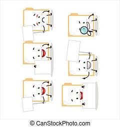 Brown manila folder cartoon character bring information ...