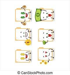 Brown manila folder cartoon character with cute emoticon ...