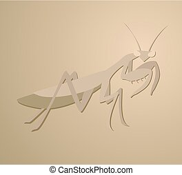 brown mantis design - Creative design of brown mantis
