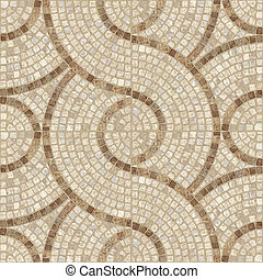 Brown marble-stone mosaic texture.