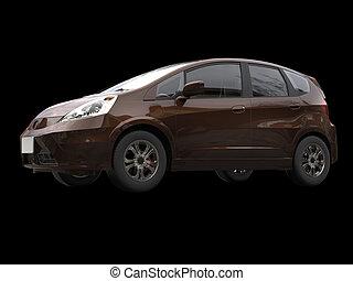 Brown metallic modern compact car