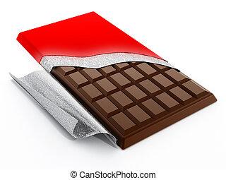 Brown milk chocolate bar