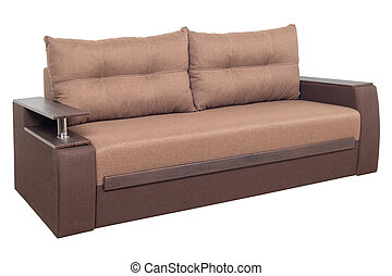 Brown Modern Sofa furniture isolated on white background