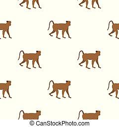 Brown monkey pattern seamless