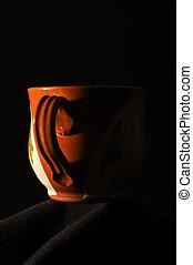 Brown mug handle low key
