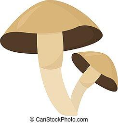 Brown mushroom, illustration, vector on white background.