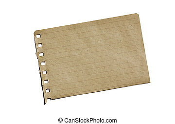 Brown Notebook Paper