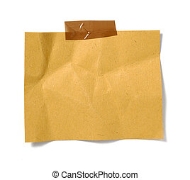 brown old paper note background - old brown grunge paper on...