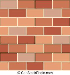 Brown Orange Brick Wall Seamless Background