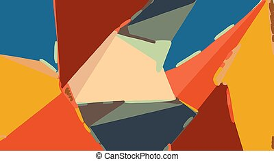 brown orange yellow and blue painting abstract background