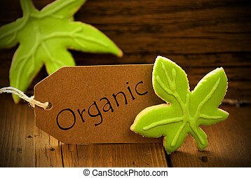 Brown Organic Label With English Text Organic