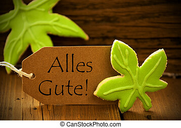 Brown Organic Label With German Text Alles Gute