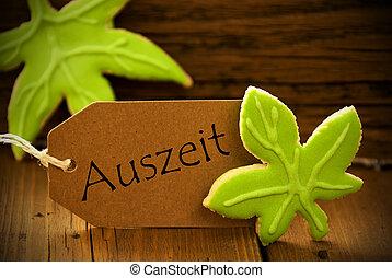 Brown Organic Label With German Text Auszeit