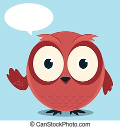 Brown owl said cartoon