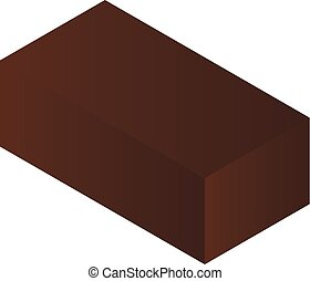 Brown package icon, isometric style